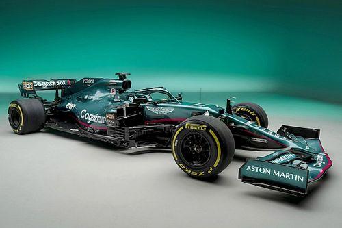 Aston Martin apresenta carro verde, rosa e preto para retorno à F1 após 60 anos