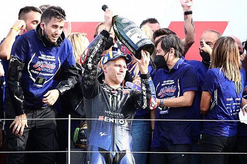 """MotoGP: """"Sempre sonhei em ser campeão"""", diz Quartararo, muito emocionado com o título"""
