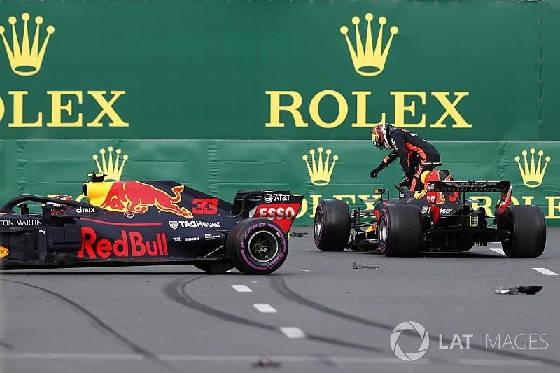 Столкновение гонщиков Red Bull в Баку: видео