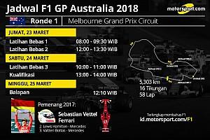Formula 1 Preview Jadwal lengkap F1 GP Australia 2018