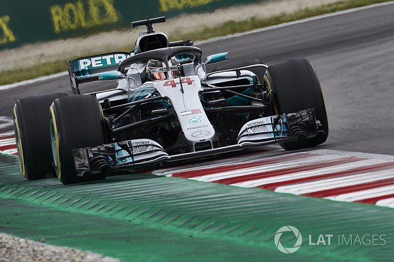 İspanya'da günün pilotu Hamilton oldu