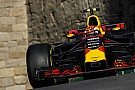 Verstappen dominó en Bakú, pero terminó el día con un choque