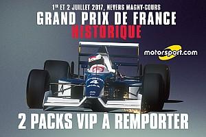 Concours - Gagnez 2 packs VIP pour assister au GP de France Historique
