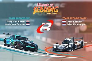 Verstappen, Van Buren en Kerkhof aan de start van virtuele 12 uur van Sebring