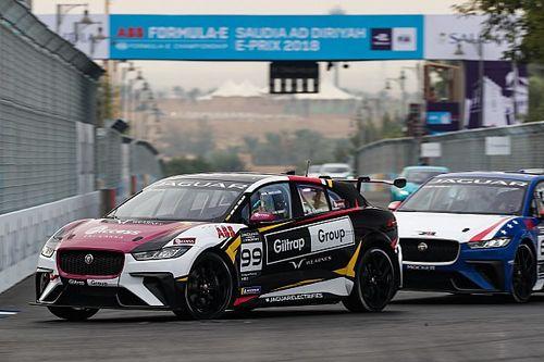 Evans gana la carrera inaugural del Jaguar eTrophy