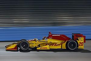 IndyCar Testing report Hunter-Reay tops IndyCar's crash-filled test session