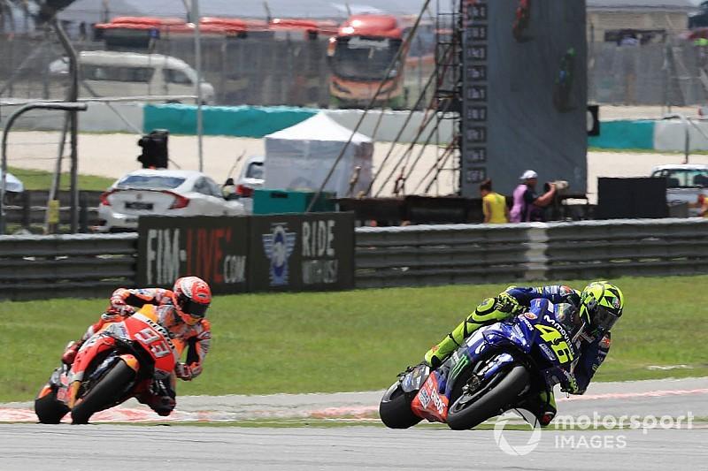 """Marquez """"had niets meer over"""" in gevecht met Rossi"""