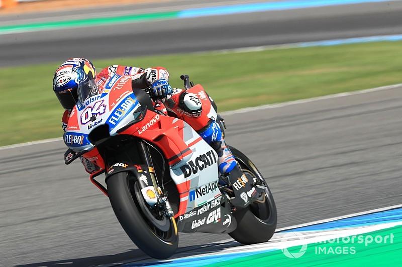 Dovizioso topt derde training Thailand, fout en crash voor Marquez