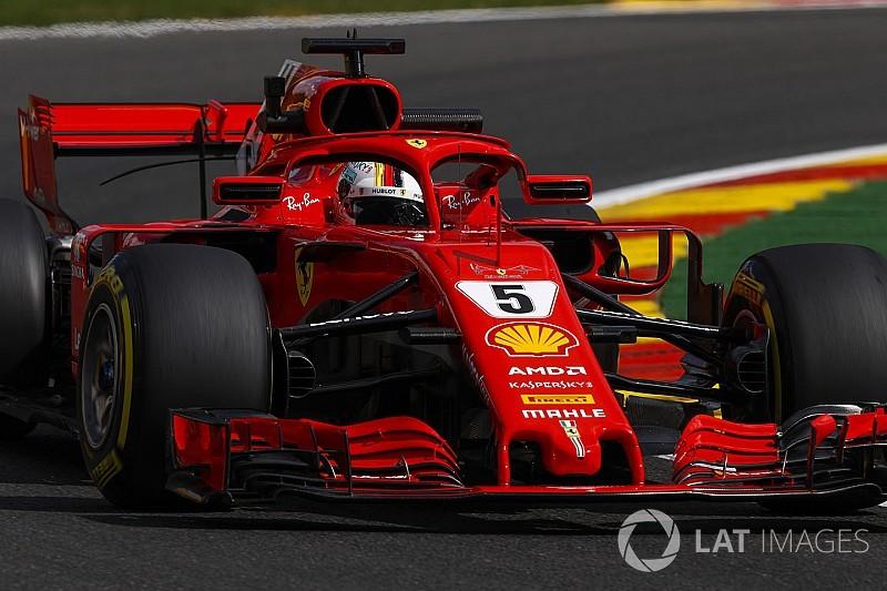 Vettel lidera acirrado terceiro treino livre na Bélgica