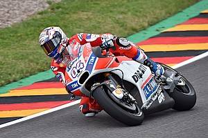 MotoGP Practice report Sachsenring MotoGP: Dovizioso tops FP1 as Rossi breaks down