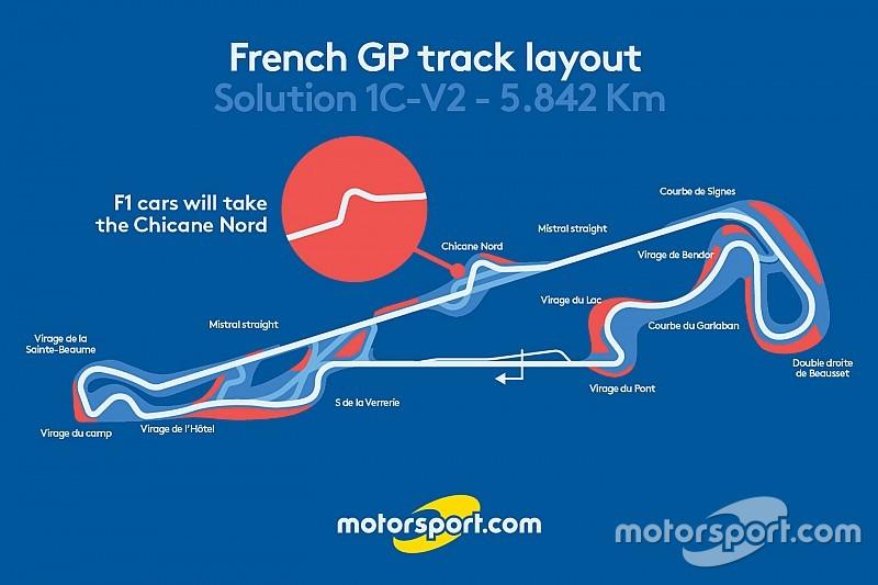 تصميم مسار سباق فرنسا سيتضمّن المنعطف المزدوج على خطّ ميسترال المستقيم