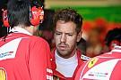Vettel: Siento que decepcioné a Ferrari en Bakú