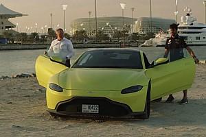 Automotive Nieuws Video: Daniel Ricciardo bestuurt de nieuwe Aston Martin Vantage