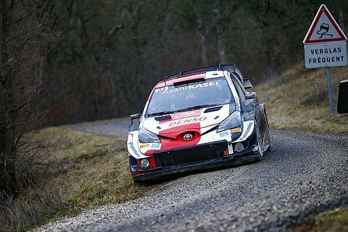 WRCモンテカルロ2日目:トヨタのエバンスが首位に。オジェが総合2番手で追う