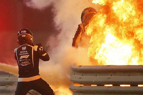 "Wait for Grosjean to escape Bahrain crash fire ""felt like ages"""