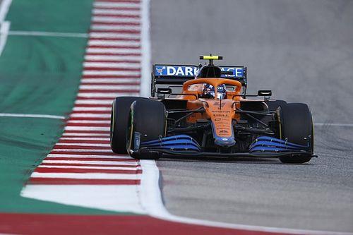 McLaren malmené par les bosses et les pneus