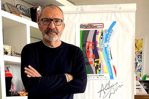 Desain Poster GP Emilia Romagna, Bukti Aldo Drudi Tak Hanya Jago Gambar Helm