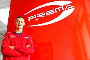 Oliver Rasmussen con Prema nel 2019 per il Campionato Italiano e Tedesco di Formula 4