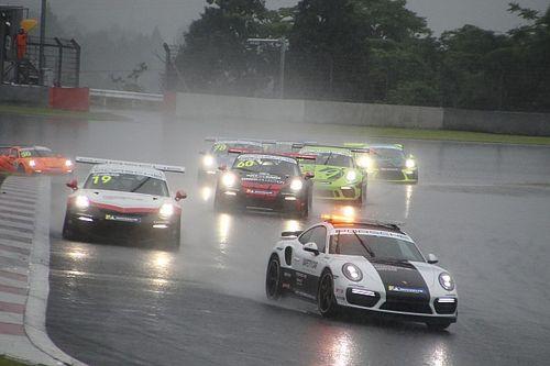 PCCJ第7戦は大雨によりSC先導のまま終了、笹原右京が今季4勝目