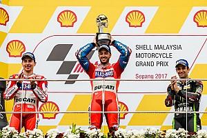 MotoGP Reporte de la carrera Dovizioso gana en Sepang y retrasa el campeonato de Márquez