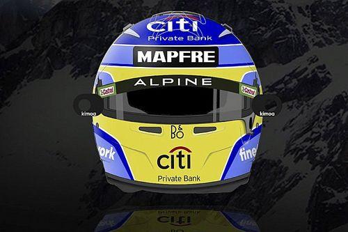 Alonso yeni sezonda kullanacağı kask tasarımını tanıttı!