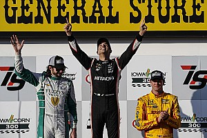 IndyCar Race report Iowa IndyCar: Perfect Castroneves scores first win in three years
