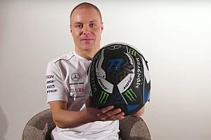 VIDEO: Bottas reveló su casco diseñado por un fan