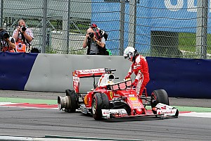 Formula 1 Breaking news Pirelli says kerb could have caused Vettel's Austrian blowout