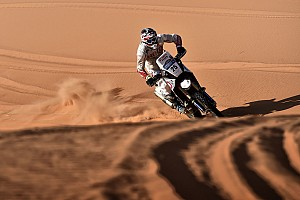 Cross-Country Rally Leg report Merzouga Bikes, Stage 3: Rodrigues in top 10 as Svitko leads after desert storm hit