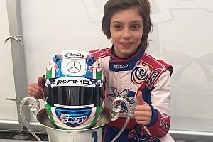 Speciale Curiosità Antonelli nei colori Mercedes AMG ha vinto la Winter Cup