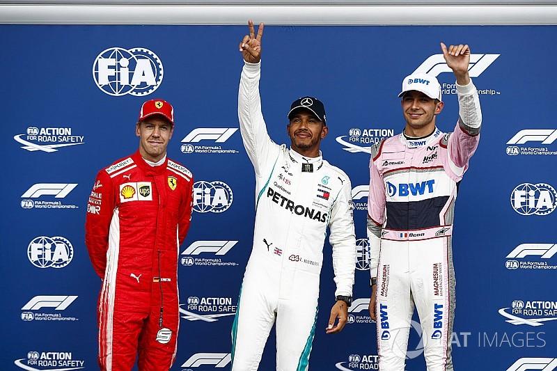 Starting grid F1 GP Belgia 2018