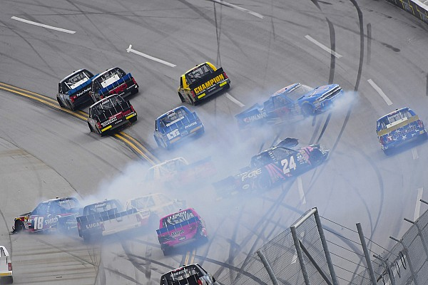 Nemechek narrowly escapes elimination from Truck playoffs at Talladega