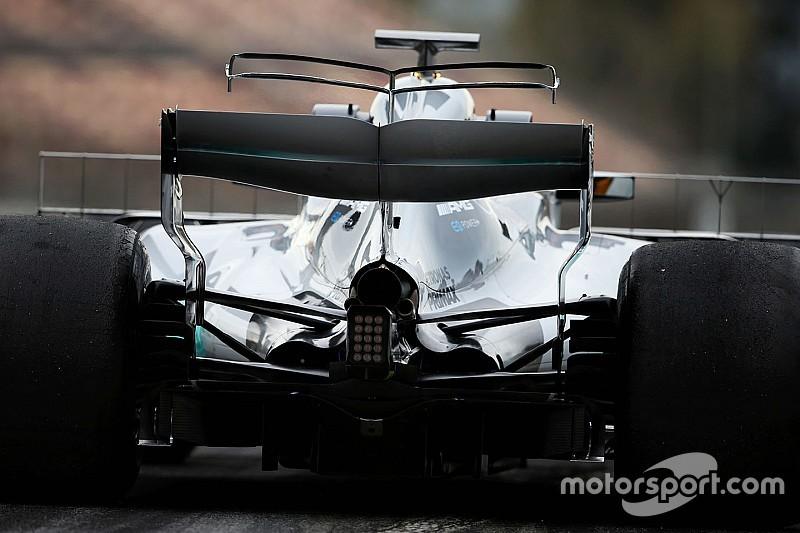 F1-Test Barcelona: Mercedes testet doppelten T-Wing