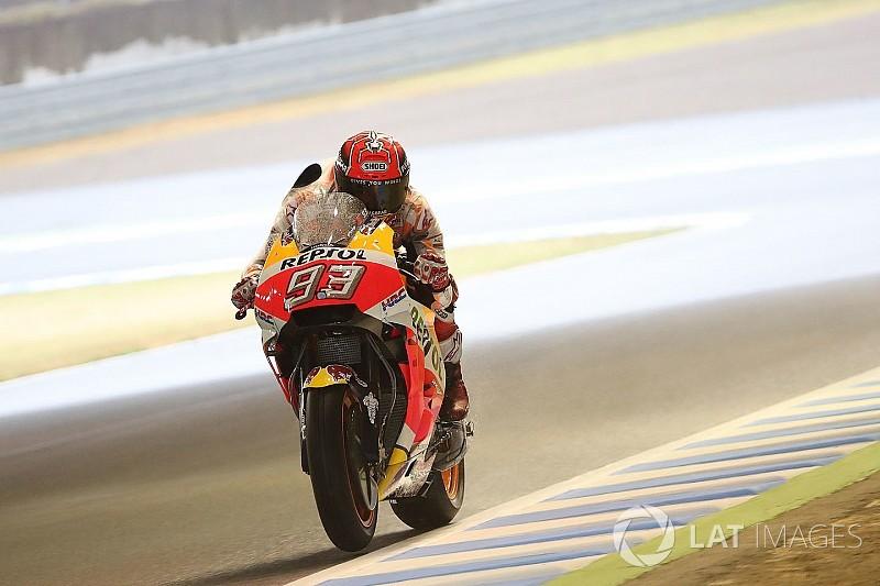 Une chute et une deuxième place pour Márquez