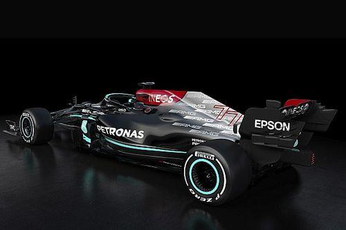 メルセデスF1の新車W12、最新版フロアは公開されず「ライバルにコピーされては困る」