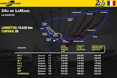 Los horarios para Latinoamérica de las 24 Horas de Le Mans 2020