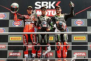 World Superbike Race report Imola WSBK: Rea draws level with Fogarty's win tally