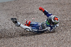MotoGP Practice report Sachsenring MotoGP: Lorenzo escapes injury in practice crash