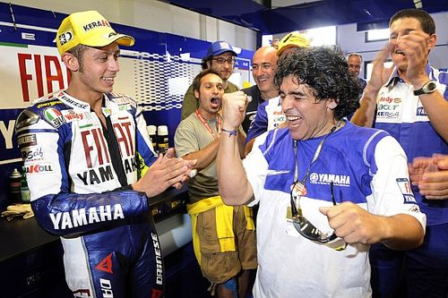 La afición de Maradona por la F1 y MotoGP