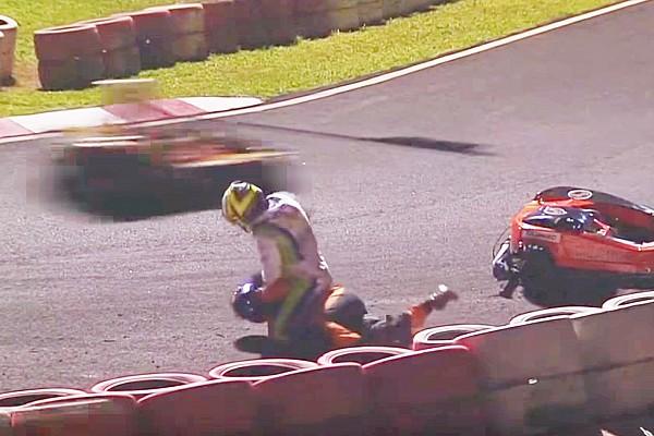 Kart Actualités Vidéo - Un équipier de Massa en kart tente d'étrangler un concurrent