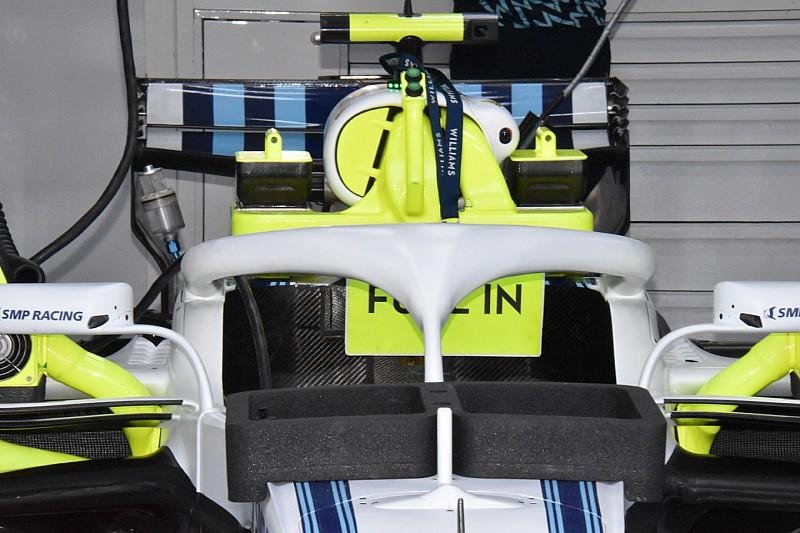 Williams nelle prove libere prova l'Halo senza le appendici aggiuntive