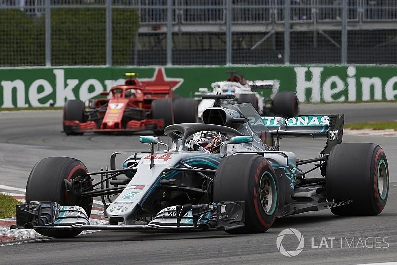 """Mercedes: """"Hebben oude motoren zo hard mogelijk laten lopen in Montreal"""""""