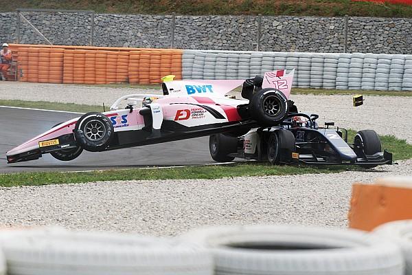 FIA F2 Diaporama Photos - L'accident de Makino avec Fukuzumi