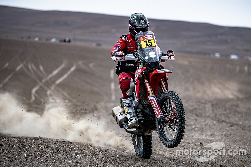 Dakar, Moto, Tappa 4: Brabec domina la prima parte della Marathon e riporta in testa la Honda