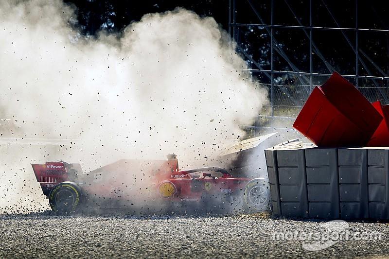 Tes F1 Barcelona II: Petaka Ferrari di hari kedua