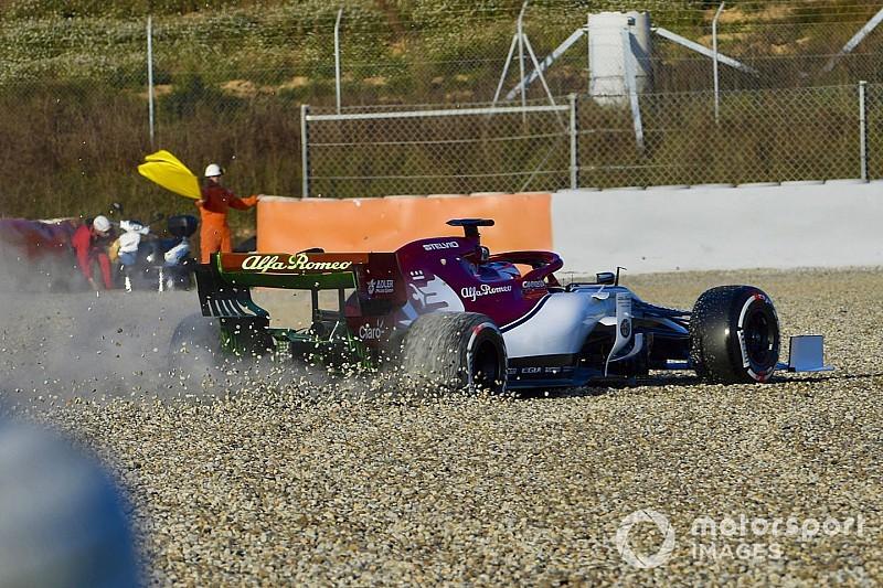 Photos - La sortie de piste de Räikkönen à Barcelone