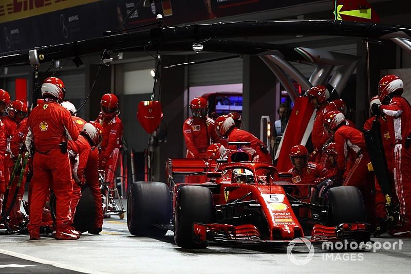 Vettel admite una mala estrategia y falta de ritmo de Ferrari