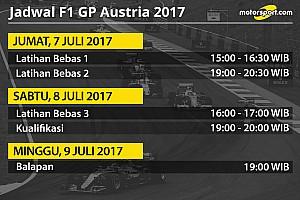 Formula 1 Special feature Jadwal lengkap F1 GP Austria 2017