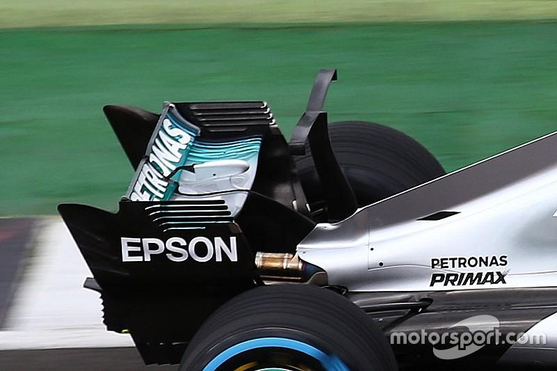 Mercedes prueba un concepto alternativo al ala de tiburón