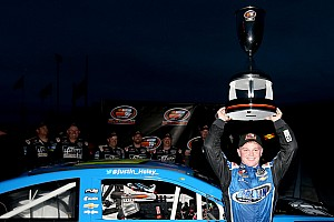 NASCAR Truck Breaking news Haley celebrates K&N East title with new NASCAR Truck ride
